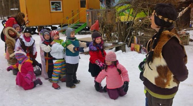 Faschingsfest 2015 bei uns im Waldkindergarten